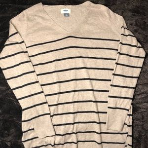 Perfect tunic length striped sweater